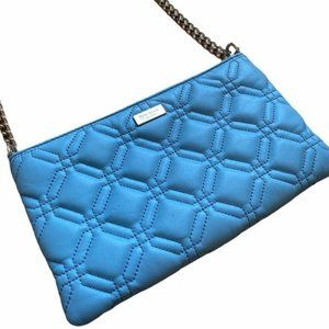 Kate Spade Baby Blue Quilted Crossbody Bag Purse